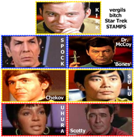 Star Trek TOS Stamps by VergilsBitch