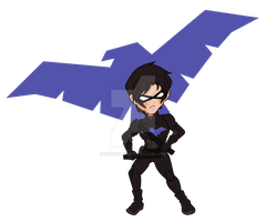Chibi Nightwing by enzeruwings