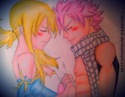 Natsu and Lucy - Flames and Keys by Fresh002