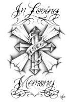 In loving memory cross by dfmurcia