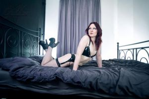 Latex Lingerie on bed 02 by GuldorPhotography