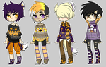 Halloween Sweater Adopts (OPEN 1/4) by Assorted-Adopts