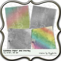 Rainbow Paper and Texture Over by MizzKitten21