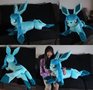 life size Glaceon by MagnaStorm