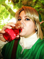 Link Drinking Heart Potion by sugarpoultry