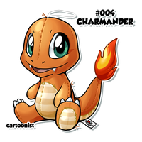 Charmander Patchwork by cartoonist