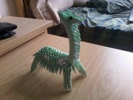 3D Origami Giraffe Green by SeemsGood