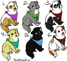 1-point pup adopts!! CLOSED- by TinyDancer-Spirit