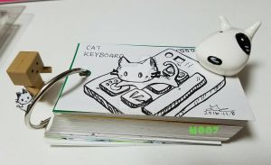 A doodle a day - keyboard cat by Merc007