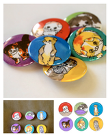 Scottish Folds Funny Cats Button Set by artshell