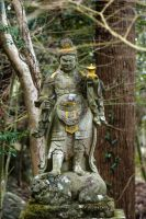 Warrior Statue at Mt Hachiman by taeliac