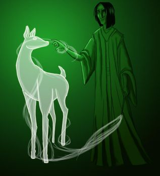 Snape's Patronus by Pen-umbra