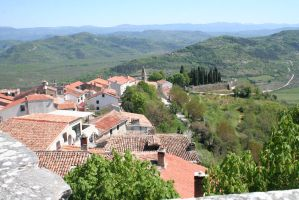 Over the roofs from Motovun 8 by ingeline-art