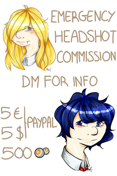 Emergency commissions open by RinJager