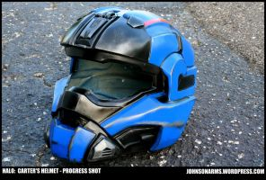 CARTER'S HELMET - HALO - PROGRESS SHOT 1 by JohnsonArms
