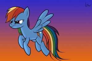 Rainbow Dash angry XD by j5furry