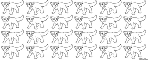 Pixel cat lineart by Shakshun