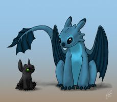 Toothless and Stitch ?? by Wonie