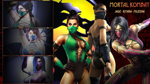 MK : Jade , Mileena , Kitana by lucyferrier