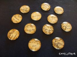Westeros map magnets by Tamiyo-Cosplay
