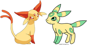 Espeon and UmbreonPair 4 MLW13 by DappleFeather