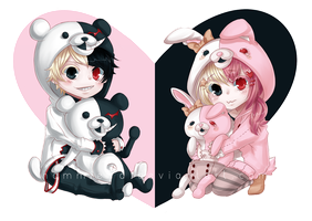 DR: Monobear and Monomi by hammie-d