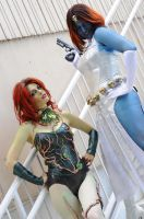 Poison Ivy and Mystique: 2 by popecerebus