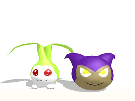 MMD Digimon - Tanemon and Yaamon + DL by JackFrost-LCDA