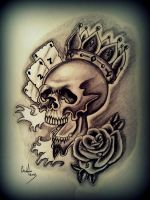 Skull wearing crown by Hausofch