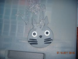Totoro Pendant by ilike2draw