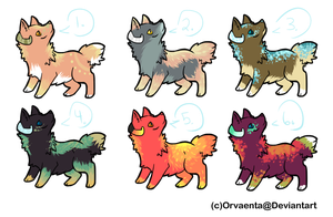 6 Horned Dog Adoptable Batch: CLOSED by SwashbuckIer