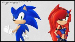 Sonic and Angelina the Hedgehog (my new group icon by XxAngelinaHedgehogxX