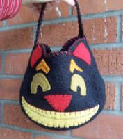 Black Cat Trick or Treat Bag by LibertineM