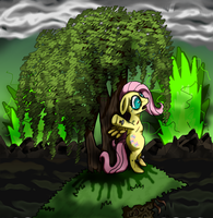 Hanging Out Near a Fluttershy Tree by Super-Zombie