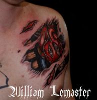 Steampunk Heart view 2 - wm by SmilinPirateTattoo