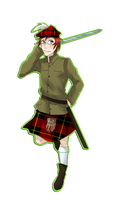 APH: Scotland by TheChainedWolf