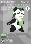 Fakemon Dex Entry: Pandaide by The-Blue-Pangolin