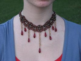 Red Helm Chain Choker by gnomeofmaille