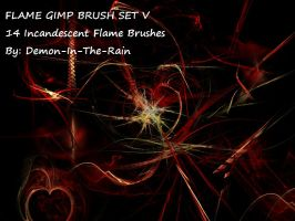 Flame-Glow Gimp Brushes-Set V by Demon-in-the-rain