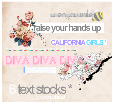 6 text stocks lol by yourpublicist