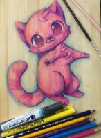 :Pink Meow(trad commish open?): by PrePAWSterous