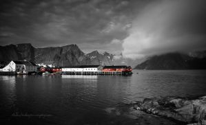 Fishermens Town by Stridsberg