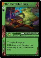 Incredible Hulk Magic Card by WoodenOx