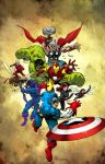 Avengers color commission by SpicerColor