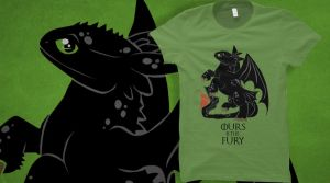 Ours is the (night) fury - tee up for voting! by DragonDodo