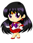 Commission: Chibi Sailor Mars for Katie0513 by MrSniffy