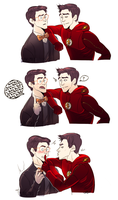 Earth 1 + 2 Barry by DarkLitria