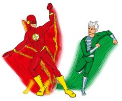 Flash vs Quicksilver by Quiquedog