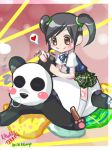 Kawaii Tekken (Xiaoyu and Panda by xiCottonCandix