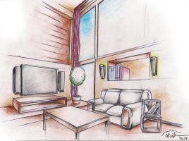 interior drawing 1 by sloeb